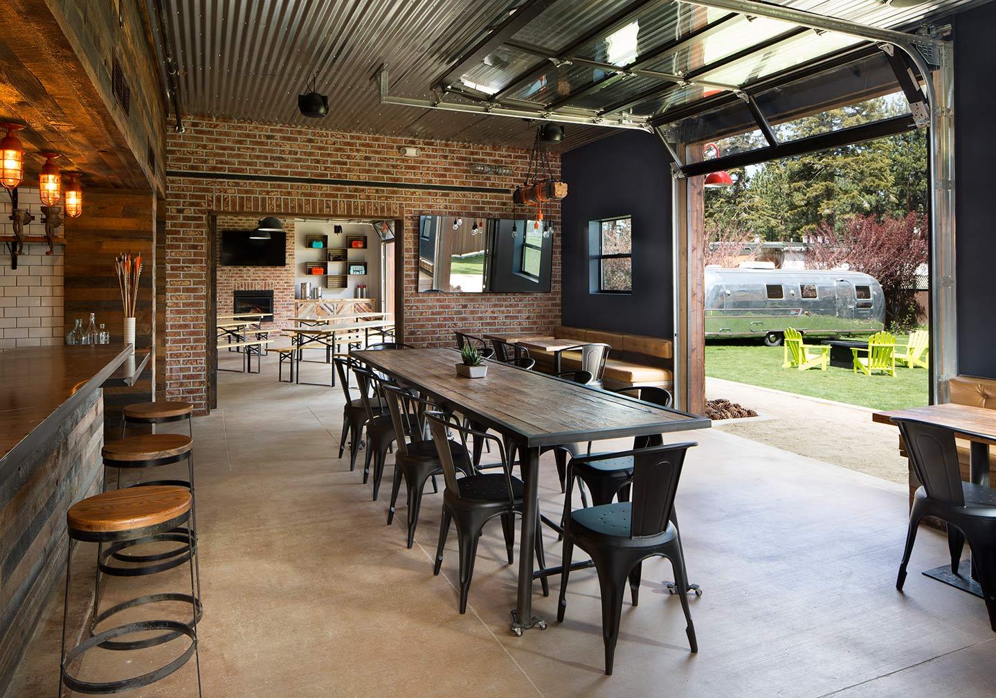 Barn Bar Meeting With Open Doors